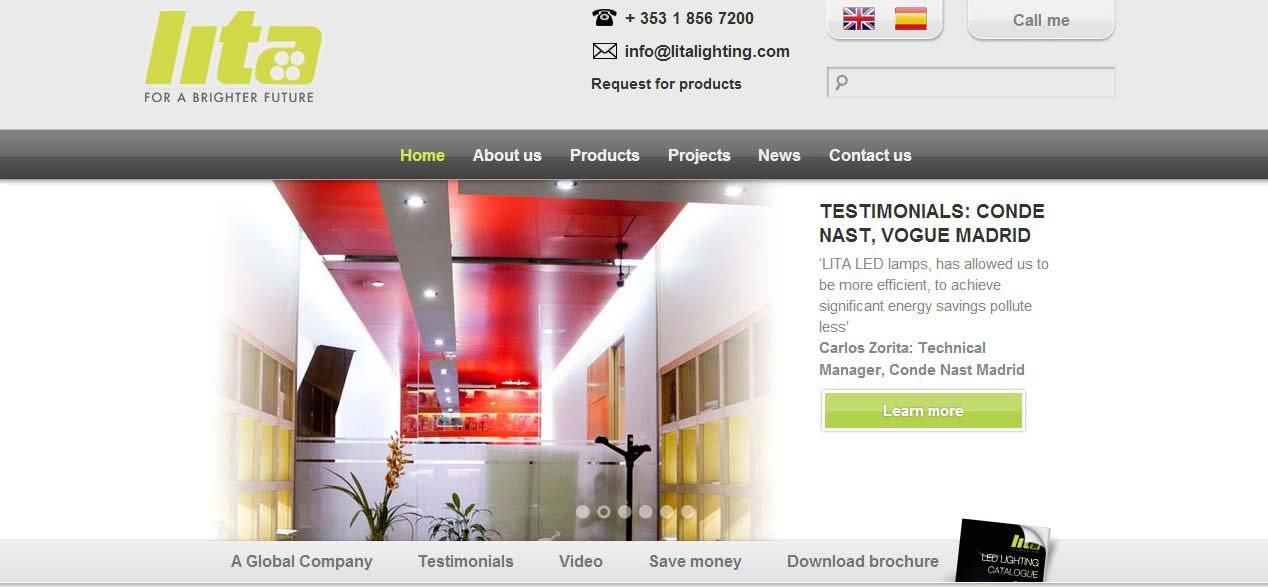 Rediseño web para Lita Lighting por Dispersium