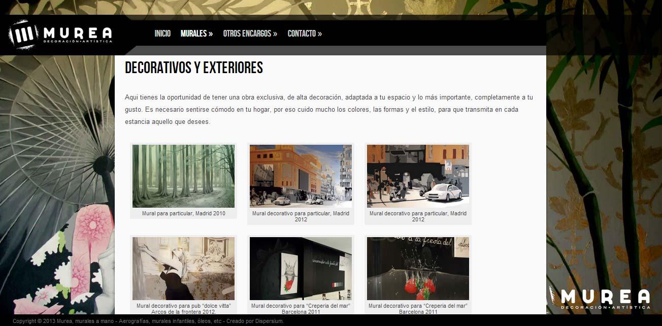 Página interior, nuevo site depara Murea