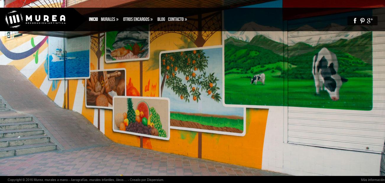 Home del nuevo sitio web de Murea