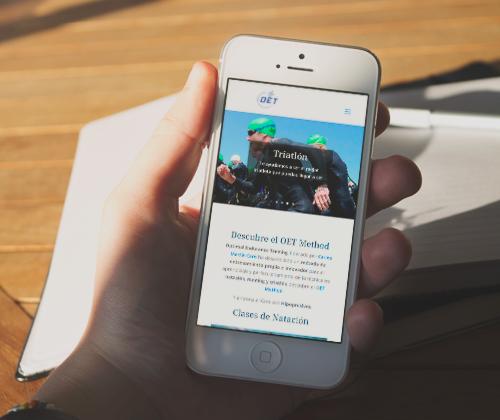 sitio web de OET desde móvil