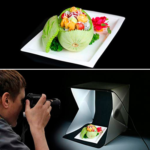 caja de luz para fotografía gastronómica