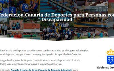 Federación Canaria de los Deportes para Personas con Discapacidad: nuevo sitio web
