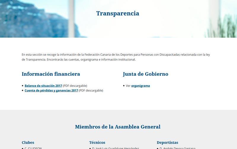 Transparencia, RGPD y accesibilidad