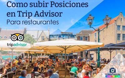 Subir posiciones en Trip Advisor: La guía definitiva (para restaurantes)