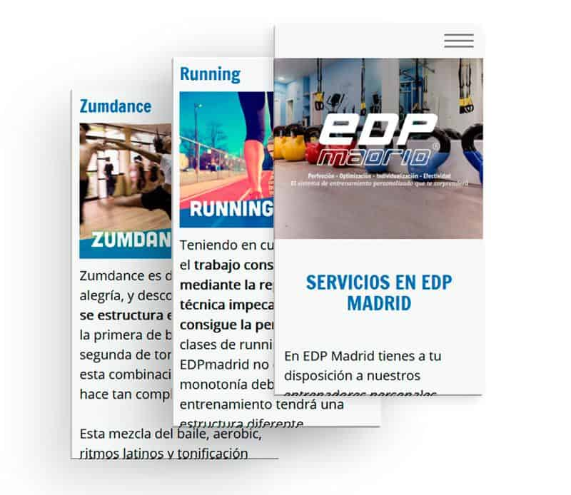 Vistas de la web de EDPmadrid desde el móvil