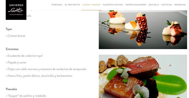 ¿Cómo debe ser la web de un restaurante? – ejemplos