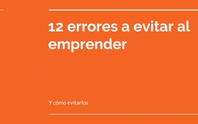 12 errores a evitar al emprender