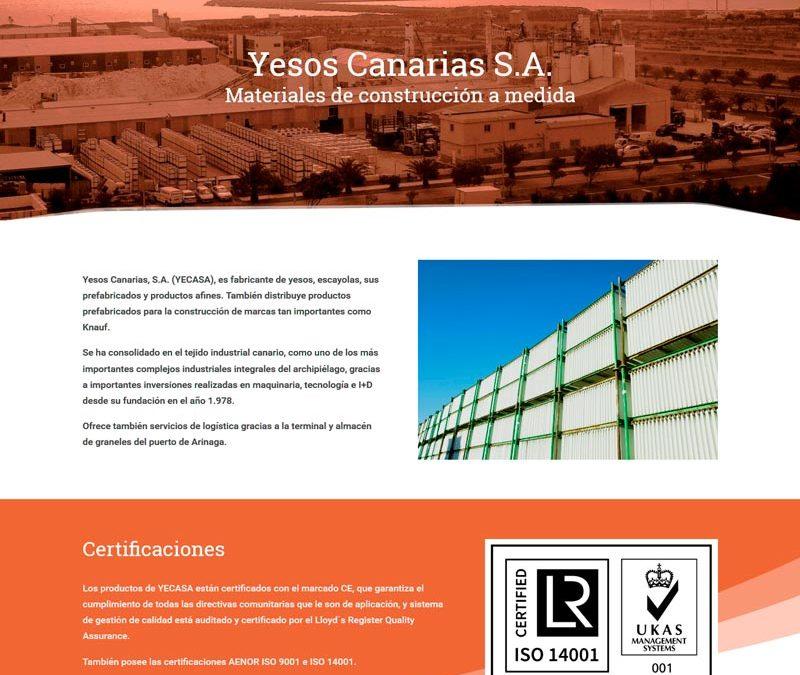 Nuevo sitio web: YECASA