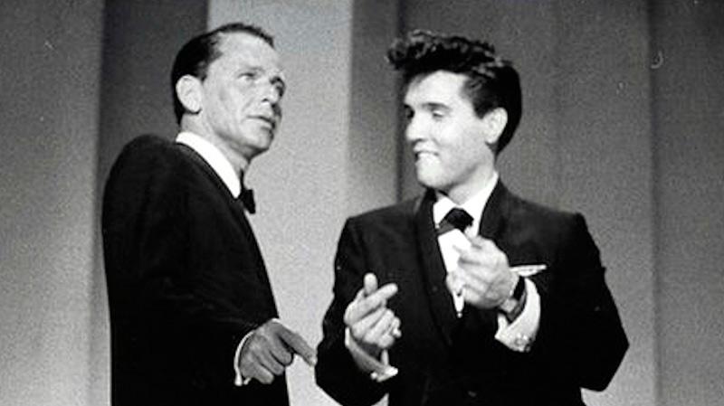 Frank Sinatra con Elvis Presley